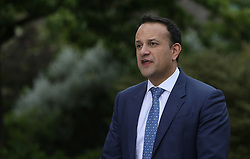 An Taoiseach Leo Varadkar speaks to the media at Dublin Castle following the announcement of the official results of the referendum on the 8th Amendment of the Irish Constitution are announced in favour of the yes vote. Picture date: Saturday May 26, 2018. See PA story IRISH Abortion. Photo credit should read: Brian Lawless/PA Wire