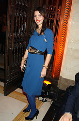 Jewellery designer LARA BOHINC at the 2005 Lancome Colour Design Awards in association with CLIC Sargent Cancer Care for Children held at the Freemasons' Hall, Great Queen Street, London on 23rd November 2005.<br />NON EXCLUSIVE - WORLD RIGHTS