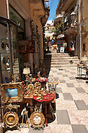 Antique shop in Taormina, Sicily .<br /> <br /> Visit our SICILY PHOTO COLLECTIONS for more   photos  to download or buy as prints https://funkystock.photoshelter.com/gallery-collection/2b-Pictures-Images-of-Sicily-Photos-of-Sicilian-Historic-Landmark-Sites/C0000qAkj8TXCzro