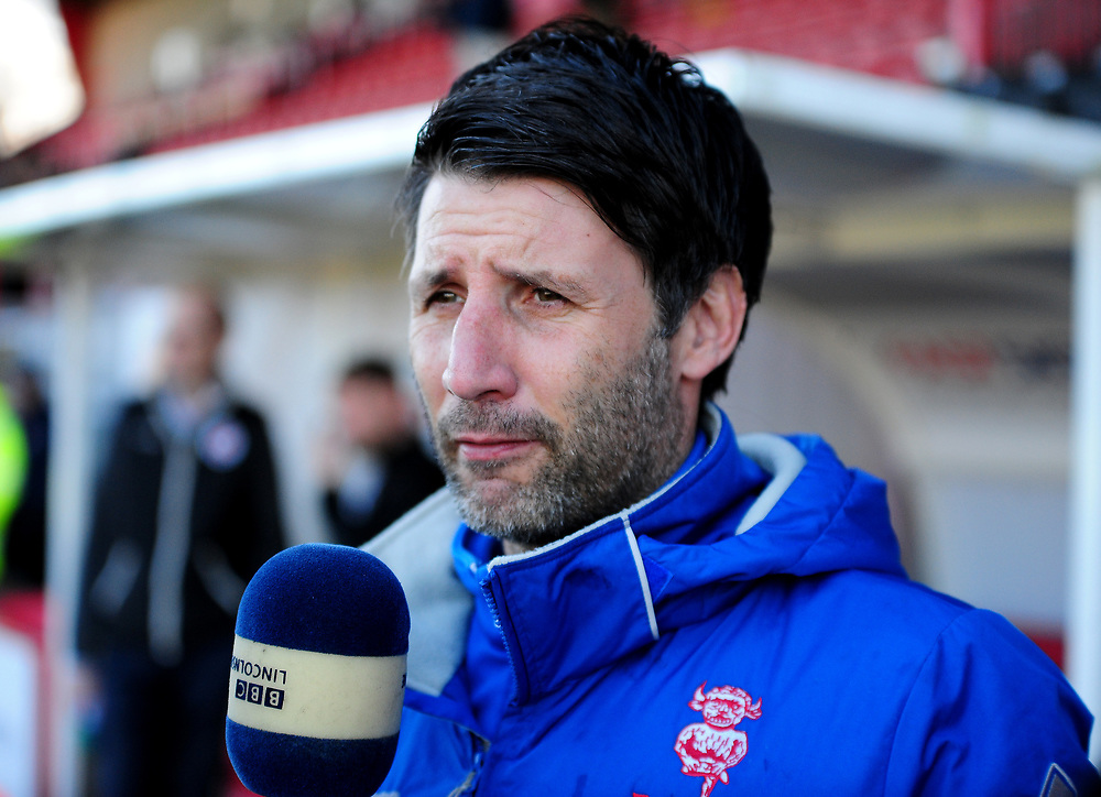 Lincoln City manager Danny Cowley<br /> <br /> Photographer Andrew Vaughan/CameraSport<br /> <br /> The EFL Sky Bet League Two - Crawley Town v Lincoln City - Saturday 17th February 2018 - Broadfield Stadium - Crawley<br /> <br /> World Copyright © 2018 CameraSport. All rights reserved. 43 Linden Ave. Countesthorpe. Leicester. England. LE8 5PG - Tel: +44 (0) 116 277 4147 - admin@camerasport.com - www.camerasport.com