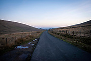 Sarn Helen road through the moorlands of the Brecon Beacons National Park on 21st February 2019 in Brecon, Powys, Wales, United Kingdom.