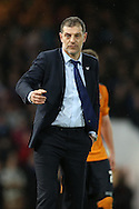 West Ham United manager Slaven Bilic looks on from the touchline. The Emirates FA cup, 3rd round match, West Ham Utd v Wolverhampton Wanderers at the Boleyn Ground, Upton Park  in London on Saturday 9th January 2016.<br /> pic by John Patrick Fletcher, Andrew Orchard sports photography.