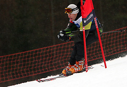 """Extreme Slovenian Cyclist Jure Robic during the first run of """"Ski Legends HIT Challenge by Jure Kosir"""" event in Kranjska Gora, Slovenia, on February 2, 2008. (Photo by Vid Ponikvar / Sportal Images)."""