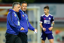 Oliver Bogatinov and Sasa Gajser, assistant coach of NK Maribor during football match between NK Domzale and NK Maribor in 2nd Round of Prva liga Telekom Slovenije 2020/21, on August 30, 2020 in Športni park Domzale, Slovenia. Photo by Vid Ponikvar / Sportida