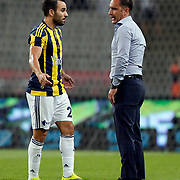 Fenerbahce's headcoach Vitor Pereira (R) and Volkan Sen (L) during their Turkish Super League soccer derby match Besiktas between Fenerbahce at the Ataturk Olimpiyat stadium in Istanbul Turkey on Sunday, 27 September 2015. Photo by Kurtulus YILMAZ/TURKPIX