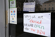 The day after the government introduced a third Coronavirus pandemic national lockdown, effectively a Tier 5 restriction, small businesses like restaurants and cafes not offering takeaways remain closed  as the capital experiences a grim post-Christmas and millions of Britons are told to stay at home, on 5th January 2021, in London, England.