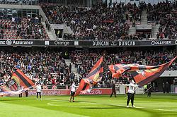 April 8, 2018 - Nice, France - Ambiance debut de match - portes drapeaux (Credit Image: © Panoramic via ZUMA Press)