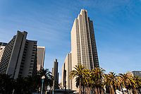 United States, California, San Francisco. Skyscrapers in the Embarcadero district.