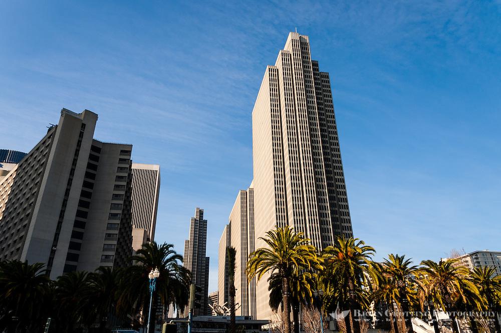 United States, California, San Francisco. Skyscrapers in the Embarcadero district.