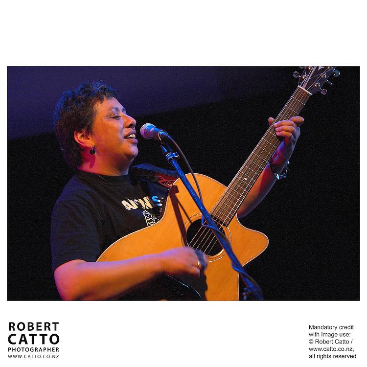 Mahinarangi Tocker performs in the Ilott Concert Chamber at the Town Hall, Wellington New Zealand.