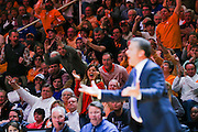 KNOXVILLE,TN - FEBRUARY 02, 2016 -  The University of Tennessee Volunteer Basketball fans and Kentucky Head Coach John Calipari during the game between the Kentucky Wildcats and the Tennessee Volunteers at Thompson-Boling Arena in Knoxville, TN. Photo By Craig Bisacre/Tennessee Athletics