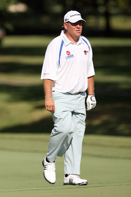 09 August 2007: John Daly walks up the the 3rd green during the first round of the 89th PGA Championship at Southern Hills Country Club in Tulsa, OK.