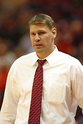 19 November 2005: Redbird coach Porter Moser. In a non-conference race that came down to a photo finish, the Illinois State Redbirds slipped past the Indianapolis University Greyhounds 54-50 at Redbird Arena in Normal Illinois