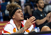 NANJING,CHINA:SEPTEMBER 5th 2019.FIBA World Cup Basketball 2019 Group phase match.Group F. New Zealand vs Greece.Power Forward, Isaac FOTU watches from the bench<br /> Photo by Jayne Russell / www.PhotoSport.nz