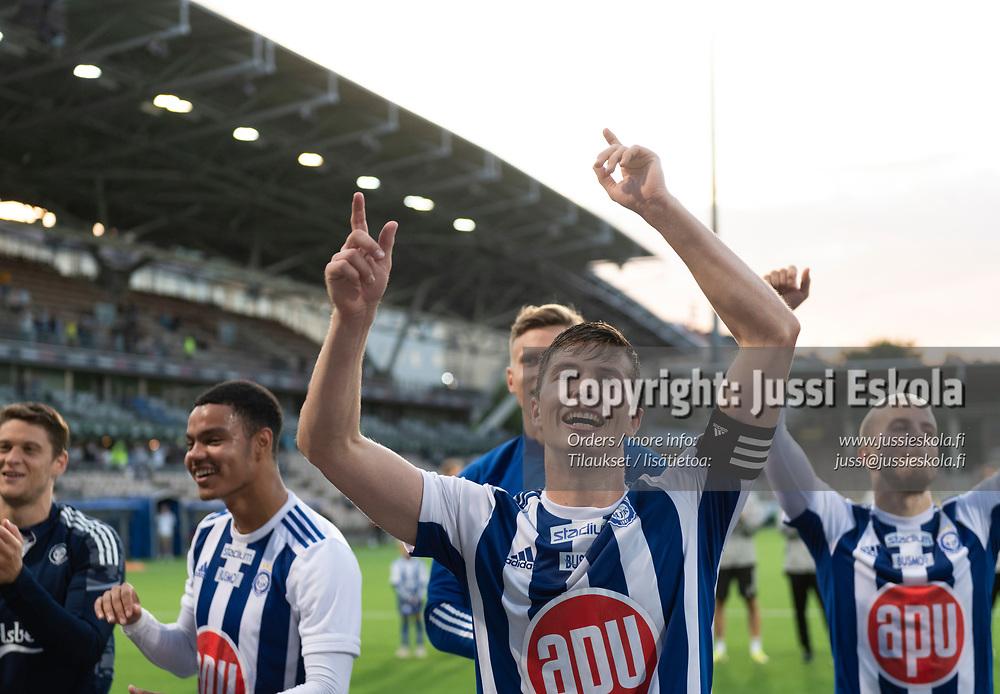 Daniel O'Shaughnessy. HJK - Neftci. Eurooppa-liigan karsinta. Helsinki 12.8.2021. Photo: Jussi Eskola