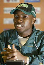 File photo dated 09-09-2004 of Zimbabwe's 21 year old Cricket captain Tatenda Taibu talks to the media.