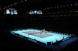 General view during the doubles match during day six of the Nitto ATP Finals at The O2 Arena, London.