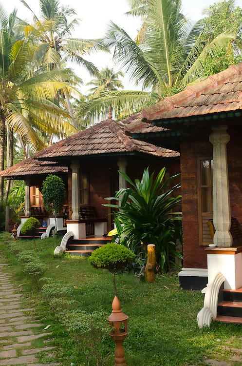 Bungalows in Varkala tourist resort, Kerala, Indian Subcontinent
