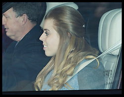 December 18, 2019, London, London, United Kingdom: Image licensed to i-Images Picture Agency. 18/12/2019. London, United Kingdom. Princess Beatrice arriving at  The Queen's Christmas Party at Buckingham Palace in London  (Credit Image: © Stephen Lock/i-Images via ZUMA Press)