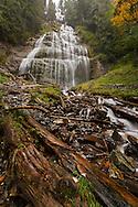 Fall color at Bridal Veil Falls in Bridal Veil Falls Provincial Park, Chilliwack, BC.