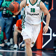 Panathinaikos's Nicholas Calathes during their Euroleague Final Four semifinal Game 1 basketball match CSKA Moscow's between Panathinaikos at the Sinan Erdem Arena in Istanbul at Turkey on Friday, May, 11, 2012. Photo by TURKPIX