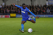 AFC Wimbledon defender Paul Osew (37) crossing the ball during the EFL Sky Bet League 1 match between AFC Wimbledon and Lincoln City at the Cherry Red Records Stadium, Kingston, England on 2 November 2019.