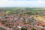 Nederland, Zeeland, Walcheren, 09-05-2013; centrum Middelburg met toren Lange Jan en Nieuwe Kerk<br /> Capital of the province of Zealand. <br /> luchtfoto (toeslag op standard tarieven)<br /> aerial photo (additional fee required)<br /> copyright foto/photo Siebe Swart