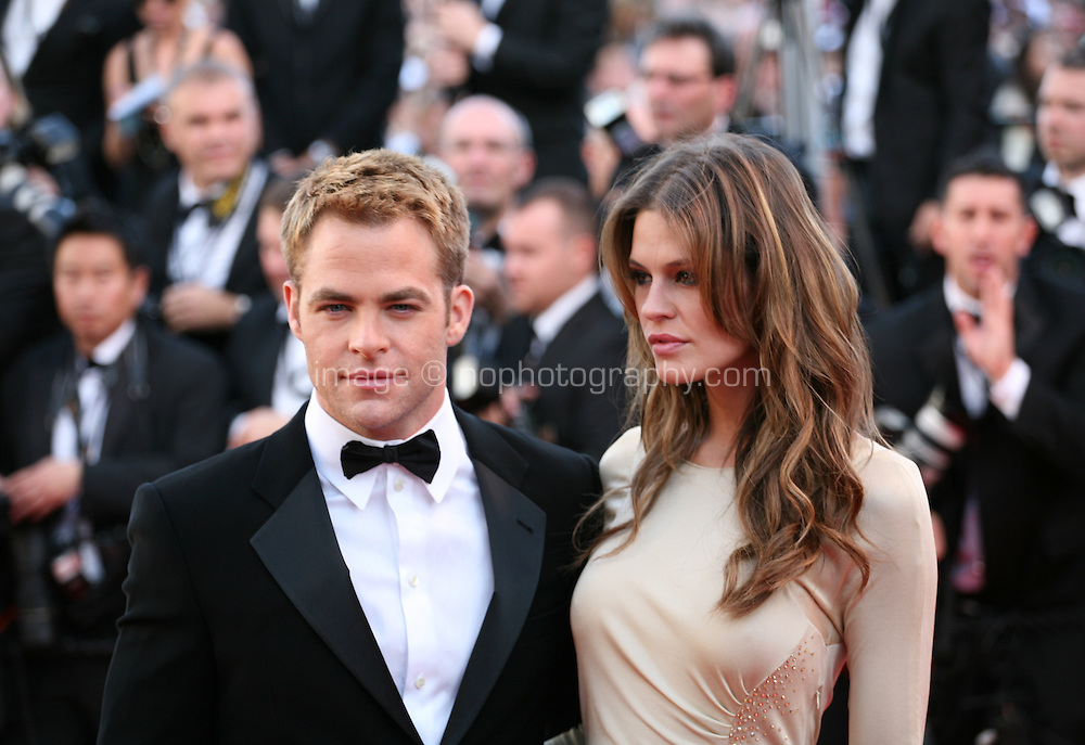 Chris Pine and Dominique Piek at the gala screening of the film Moonrise Kingdom at the 65th Cannes Film Festival. Wednesday 16th May 2012, the red carpet at Palais Des Festivals in Cannes, France.