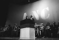 Nelson Mandela speaking in the Royal Concert Hall, Glasgow, Scotland, on 9th October 1993. Mandela was in Glasgow to receice the 'Freedom of the City' honour.
