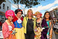 OCTOBER 22, 2011 - MERRICK, NEW YORK: Democratic candidate meets people at Merrick Street Fair. Merokean Claudia Borecky (lcenter) challenged Republican incumbent for Town of Hempstead Town Council.