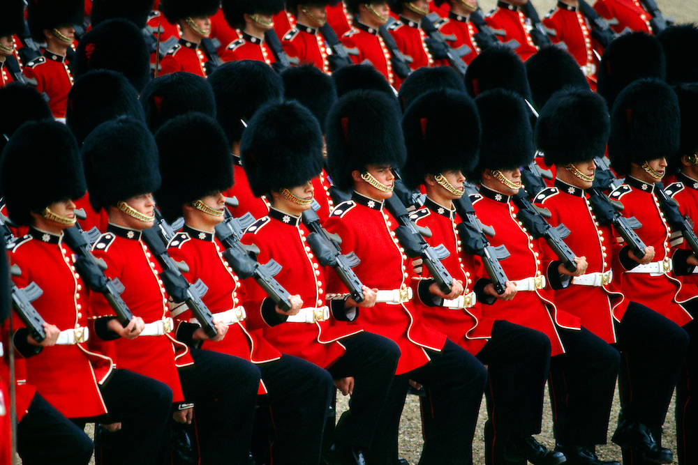 Trooping the Color (Queen Elizabeth II's birthday parade), Horse Guards Parade, London, England