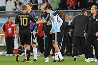 FOOTBALL - FIFA WORLD CUP 2010 - 1/4 FINAL - ARGENTINA v GERMANY - 3/07/2010 - DESPAIR JAVIER PASTORE  (ARG)<br /> PHOTO FRANCK FAUGERE / DPPI