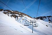 La Mongie ski resort,  Bagnères-de-Bigorre, France.
