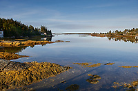 View of inlet on Bush Island near Crescent Beach, Nova Scotia, Canada,