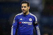 Cesc Fabregas of Chelsea looks on. Barclays Premier league match, Chelsea v Newcastle Utd at Stamford Bridge in London on Saturday 13th February 2016.<br /> pic by John Patrick Fletcher, Andrew Orchard sports photography.