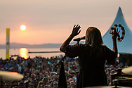 Grace Potter plays during day 2 of the Grand Point North music festival at Waterfront Park on Sunday afternoon September 17, 2017 in Burlington. (BRIAN JENKINS/for the FREE PRESS)