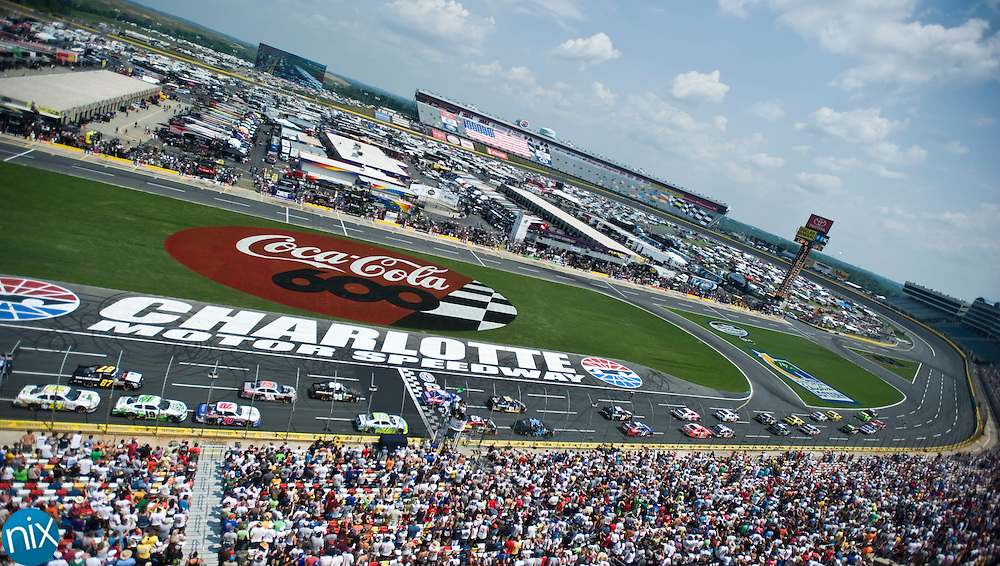 The History 300 gets underway Saturday afternoon at Charlotte Motor Speedway.   (photo by James Nix)