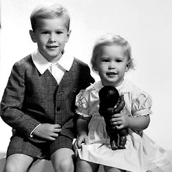 HS604  Portrait of George W. and Robin Bush, Midland, TX,<br /> early 1950s.<br /> Photo Credit:  George Bush Presidential Library