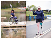 12 times Olympic medalist Jeanette Chipptington MBE and Podium Potential Programme athlete Hope Gordon. British Canoeing   Hummel kitting out day
