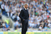 Brighton Manager, Chris Hughton during the EFL Sky Bet Championship match between Brighton and Hove Albion and Bristol City at the American Express Community Stadium, Brighton and Hove, England on 29 April 2017.