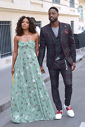 Gabrielle Union and Dwayne Wade arriving at the Valentino show during the Paris Men's fashion Week Spring Summer 2018, in Paris, France on june 21, 2017. Photo by Aurore Marechal/ABACAPRESS.COM
