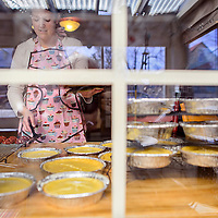 020114       Cable Hoover<br /> <br /> Natalie Tamminga places her red velvet cookies on a cooling rack by her kitchen window at her home in Gallup Tuesday.