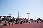 Shadow Drum and Bugle Corps practices in Marion, Indiana on August 5, 2019. <br /> <br /> Beth Skogen Photography - www.bethskogen.com