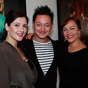 NLD/Amsterdam/20110913 - Lunch genomineerden voor John Kraaijkamp musicalawards 2011, Tina de Bruin, Rop Verheijen, Ellis van Laarhoven