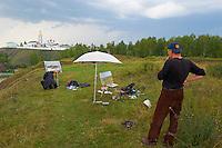 Russie, Siberie, region de Tioumen, Tobolsk, le Kremlin, Igor, peintre // Russia, Siberia, Tyumen Oblast, Tobolsk, the Kremlin, Igor, painter