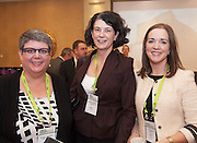 20/11/2014  repro free Hollie Blakeney, Global Training Specialists and Anna Holland Flexible Secretarial Services  and Niamh Costello Galway Technology Centre at the Galway Bay Hotel for the two day conference Meet West attracting over 400 business people from around Ireland for the largest networking event in the Country . Photo:Andrew Downes