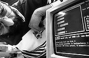 Nederland, Nijmegen, 15-6-1989Computer met besturingssysteem ms-dos waar een anti-virus programma op draait.Foto: Flip Franssen/Hollandse Hoogte