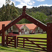 The Koroniti marae and carvings. Whanganui River rd. Koriniti is located on the banks of the Whanganui River about 40km from the city of Wanganui,  26th December 2010. Photo Tim Clayton.