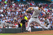 Chris Sale #49 of the Chicago White Sox pitches against the Minnesota Twins on June 19, 2013 at Target Field in Minneapolis, Minnesota.  The Twins defeated the White Sox 7 to 4.  Photo: Ben Krause