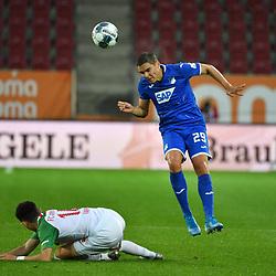 v.l. Ruben VARGAS (A), Robert SKOV (1899) <br /> <br /> Sport: Fussball: 1. Bundesliga: Saison 19/20: 32. Spieltag, 17.06.2020.<br /> FC Augsburg (A) - TSG 1899 Hoffenheim (1899) <br /> Foto: Frank Hoermann/FOTOAGENTUR SVEN SIMON/POOL/PIX-Sportfotos<br /> <br /> Nur fuer journalistische Zwecke! <br /> Only for editorial use!<br /> <br /> DFL regulations prohibit any use of photographs as image sequences and/or quasi-video.<br /> National and International News Agencies OUT<br /> NO RESALE!